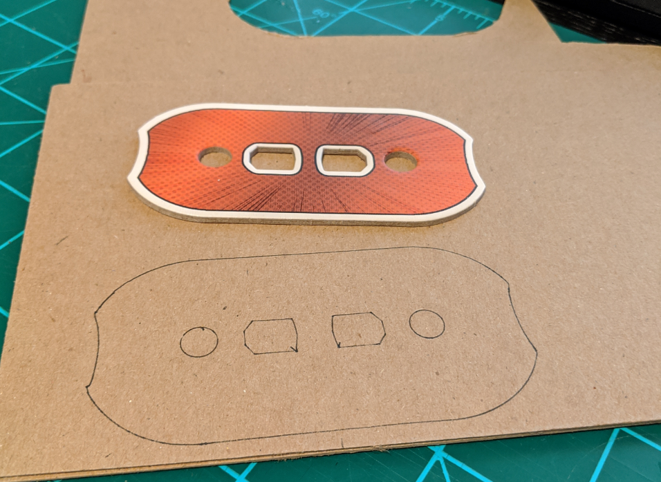 Laying out the dial on chip board