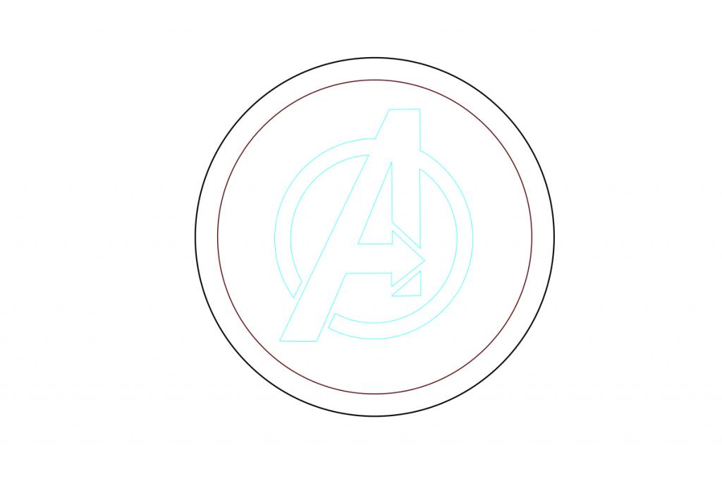 Avengers logo for token tray