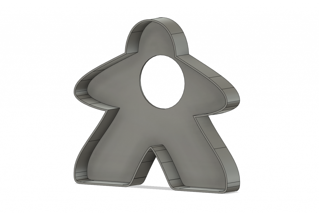 meeple 3d print cookie cutter