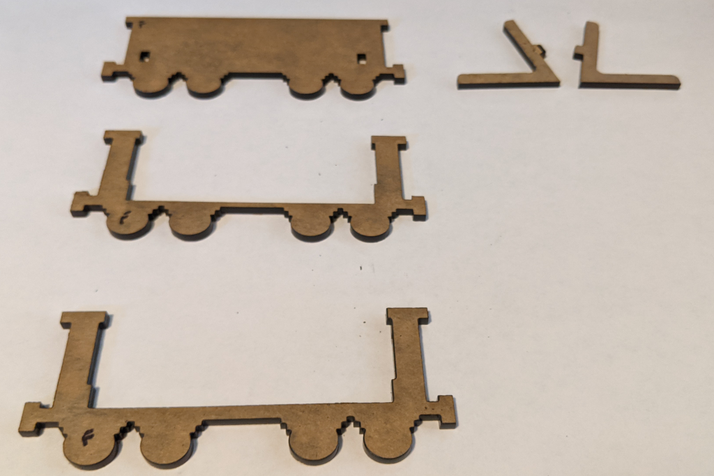 Cut out components of Essex County Express