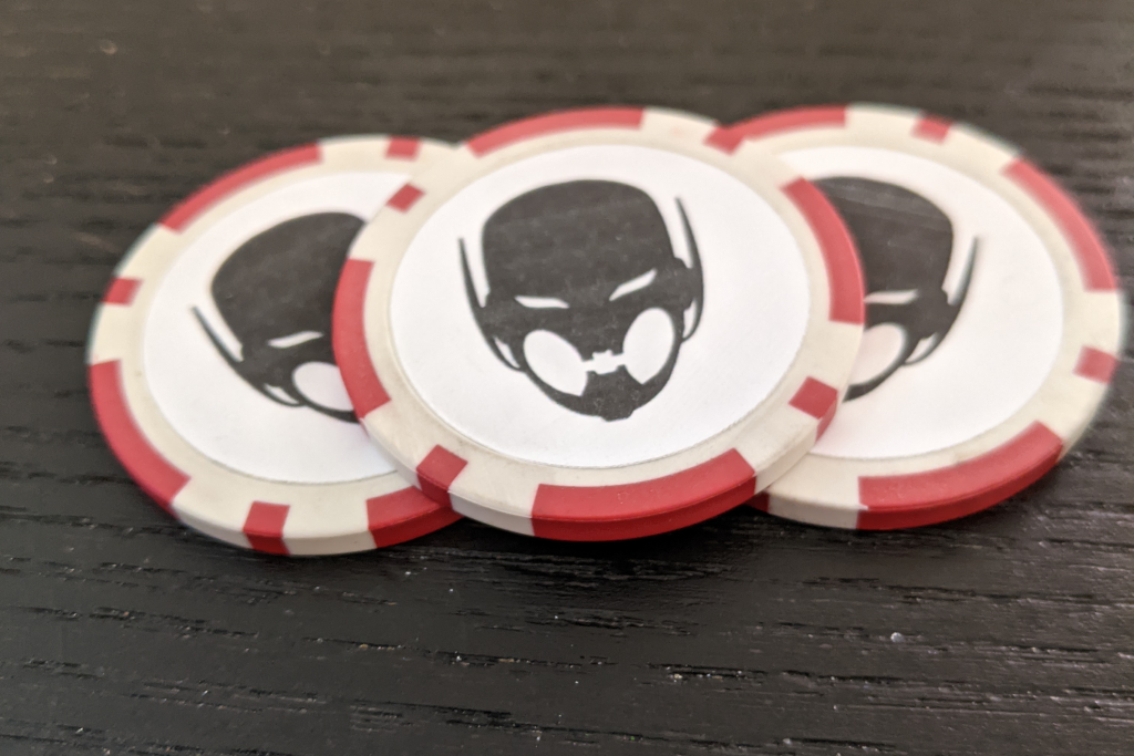 Finished Ultron Drone Poker Chip Tokens